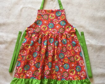 I Love Butterflies and Bugs Girl's Apron