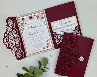 Elegant Wedding Invitations Etsy