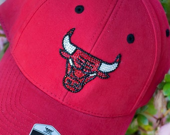Chicago Bulls Baseball Cap - Hat Bling Rhinestone - Dad Football Trucker -  Crystals Swarovski Bedazzled - Womens Ladies Girls NBA Custom e963386455d