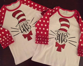 8966f0743be Cat in the Hat inspired shirts