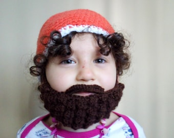 Crochet Hat with Beard 24094188565