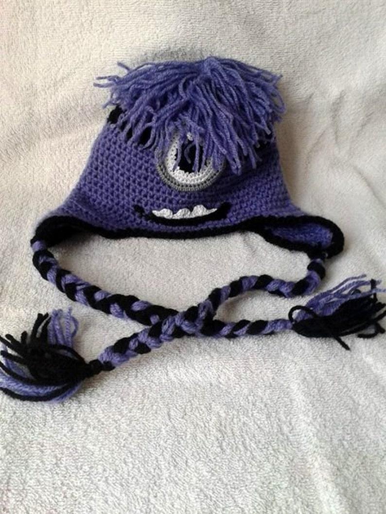 Crochet  Minion Hat Devil Minion Hat Minion One-eye  Hat Minion Hand Made