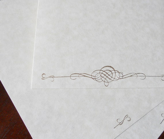 writing on parchment paper