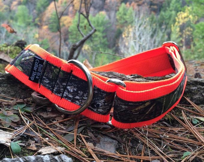 "Moose's Mossy Oak Camo - 1.5"" Martingale Collar"