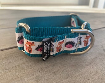 "Woodland Creatures - 1"" Martingale Collar"