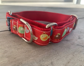 "Sierra's Birdies & Chicks 1"" Martingale Collar"