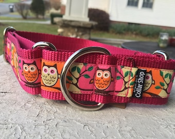 "Cricket's a Hoot Owls 1.5"" Martingale Collar"