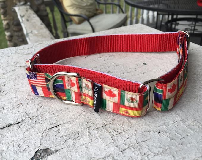 "Scarlett's Flags - 1"" Martingale Collar"