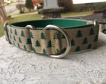 "Moose's Pine Forest - 1.5"" Martingale Collar"