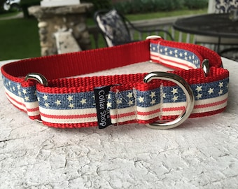 "Vintage Stars & Stripes - 1"" Craft Martingale Collar"