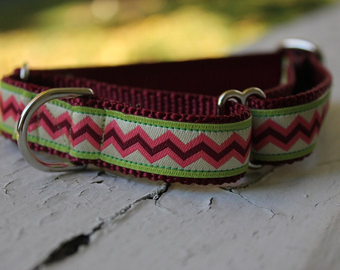 "Tabby's Zigs & Zags - 3/4"" Martingale Collar"