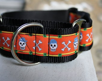 "Halloween Skulls 1.5"" Martingale Collar"