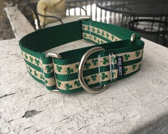 "Bubba's Lucky Clovers - 1.5"" Martingale Collar"