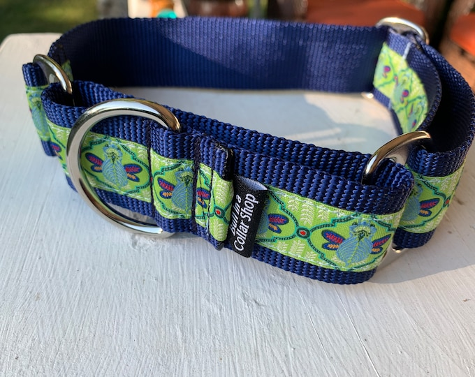 """Butterfly Moth - 1.5"""" Martingale Collar"""