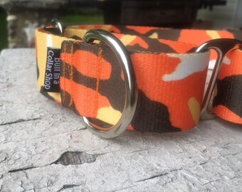 "Orange Camo - 1.5"" Plain Nylon"