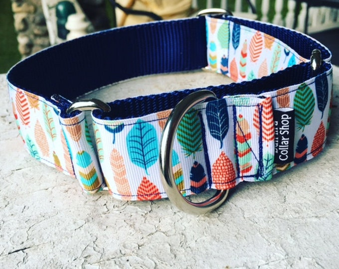 "Feathers for Mr. Dig - 1.5"" Martingale Collar"