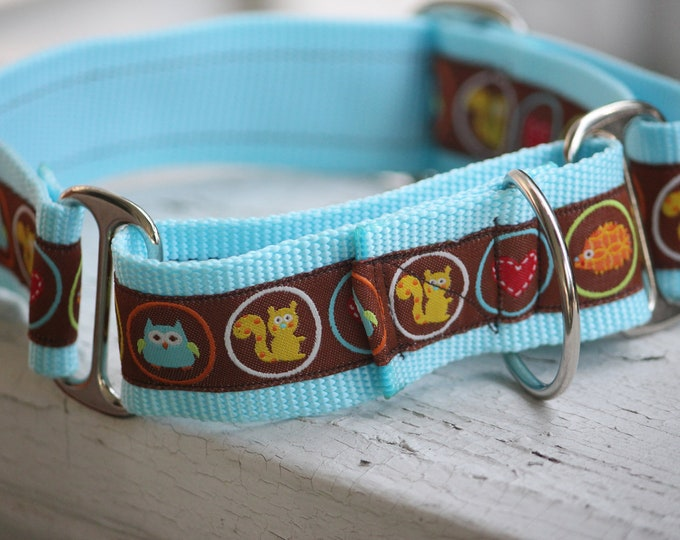 """Kane's Squirrels & Critters  1.5"""" Martingale Collar"""