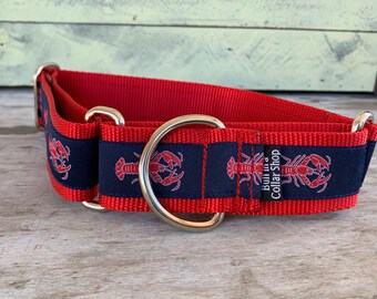 "Maine Lobster - 1.5"" Martingale Collar"