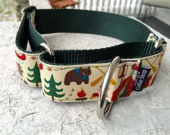 "Tyson's Campground Fun - 1.5"" Martingale Collar"