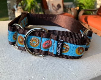 "Amos' Donut Shop - 1.5"" Martingale Collar"