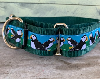 "Maine Puffin - 1.5"" Martingale Collar"
