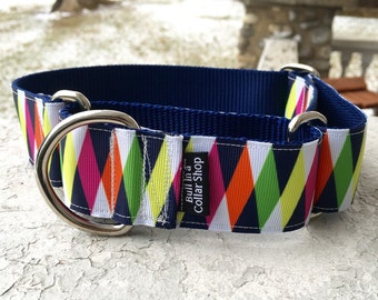 "Abe's Patchwork 1.5"" Martingale Collar"