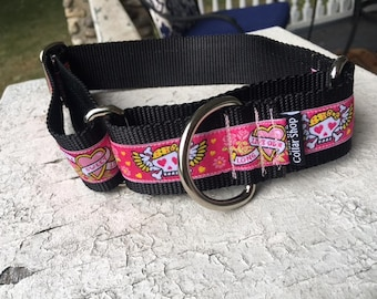"Missy's Ink - 1.5"" Martingale Collar"