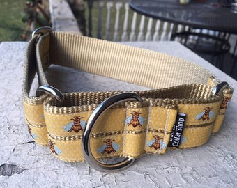 """Honey Bee for Sybil Marie - 1.5"""" Craft Martingale Collar"""