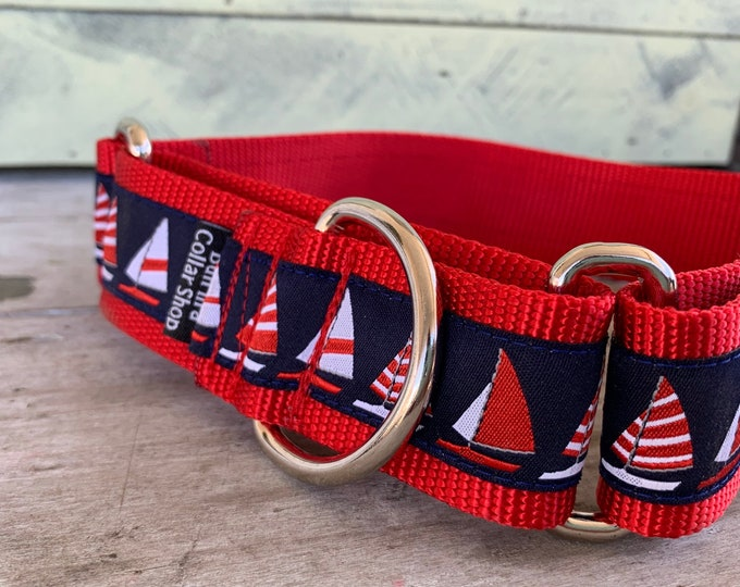"""Sail Away - 1.5"""" Martingale Collar"""