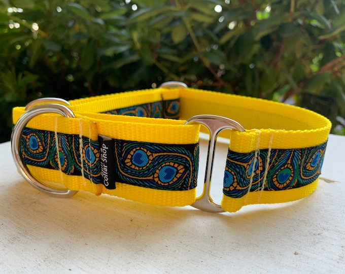 """The Peacock - 1.5"""" Martingale Collar"""