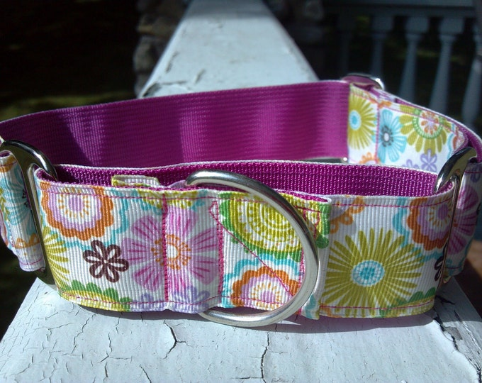 """Reilly's Blooms 1.5"""" Martingale Collar"""