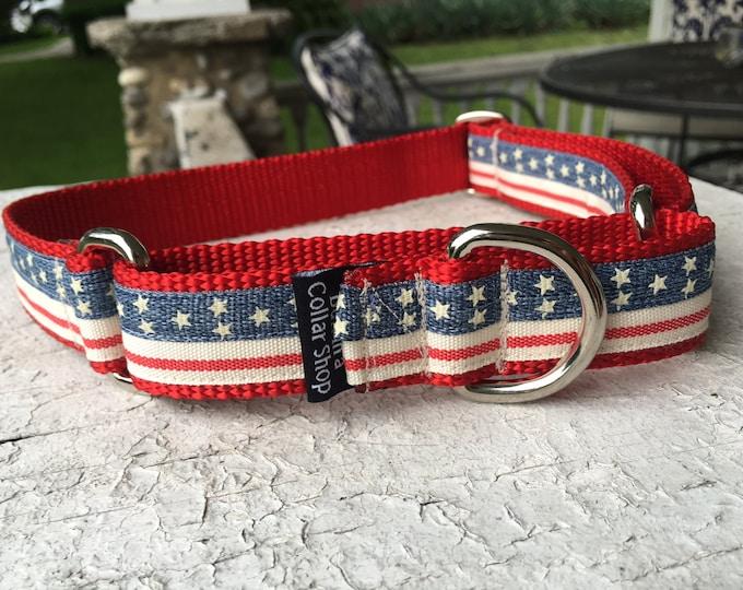 "Vintage Stars & Stripes - 1"" Craft Martingale Collar"