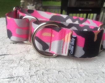 "Pink Camo - 1.5"" Plain Nylon"