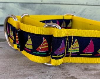 "Sail Away II - 1.5"" Martingale Collar"