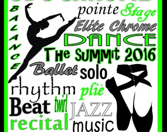 dance poster etsy 1970s Disco Party Decorations custom dance poster tap poster jazz poster ballet poster