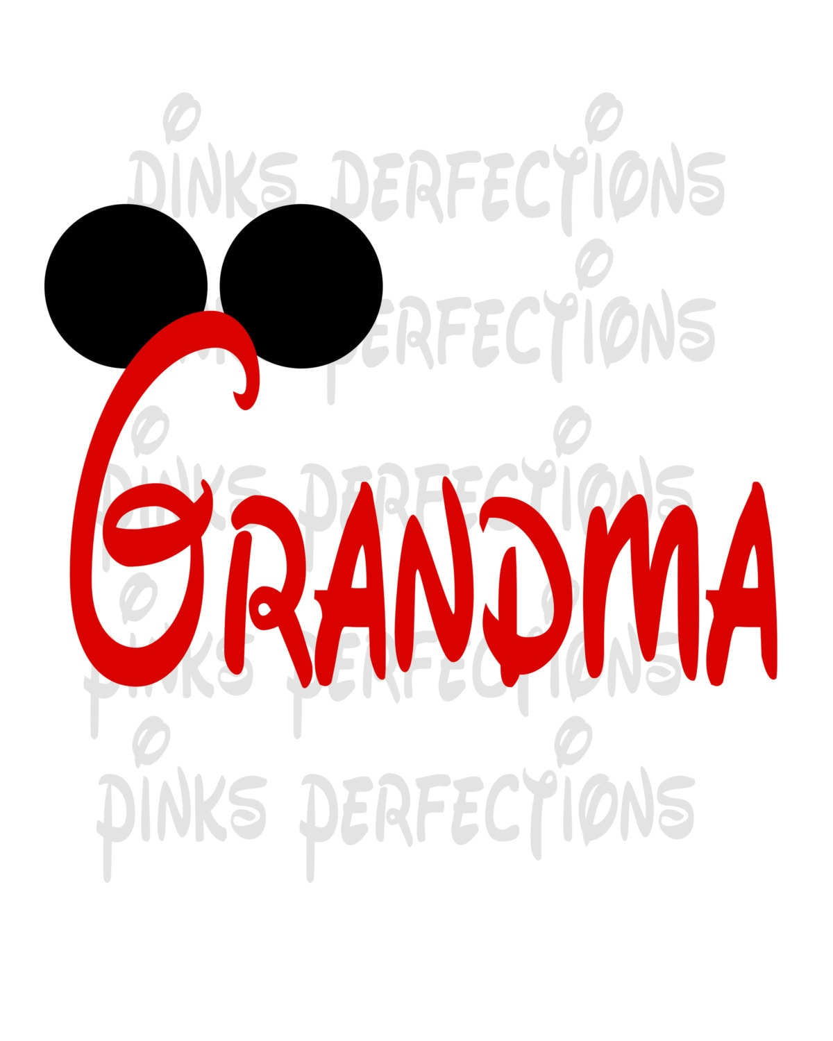 Disney Grandma Shirt Disney Iron On Transfer Mickey Mouse | Etsy