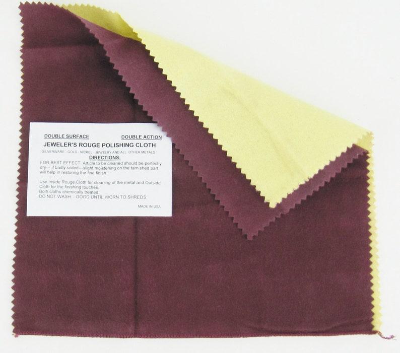 e5c1ad60583 Jewelers Rouge Polishing Cloth sterling silver 925 gold nickel