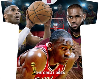 b41310cd2 Basketball Greats T-Shirt. Men s (Unisex) Sublimation Shirt