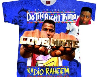 outlet store 3f598 b11a7 Do The Right Thing T shirt. Adult And Youth Shirt. Men s (Unisex)  Sublimation Shirt Radio Raheem Shirt. Spike Lee Shirt. 90 s Hip Hop Shirt