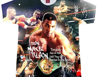 fd8fbcae Adult and Youth Sizes. Boxing T-shirts. Boxing Tees. Mike Tyson Shirt. Boxers  T-Shirts