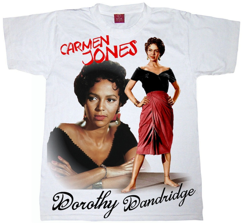 dc79e654 Dorothy Dandridge T-Shirt. Carmen Jones Men's tee. Black | Etsy