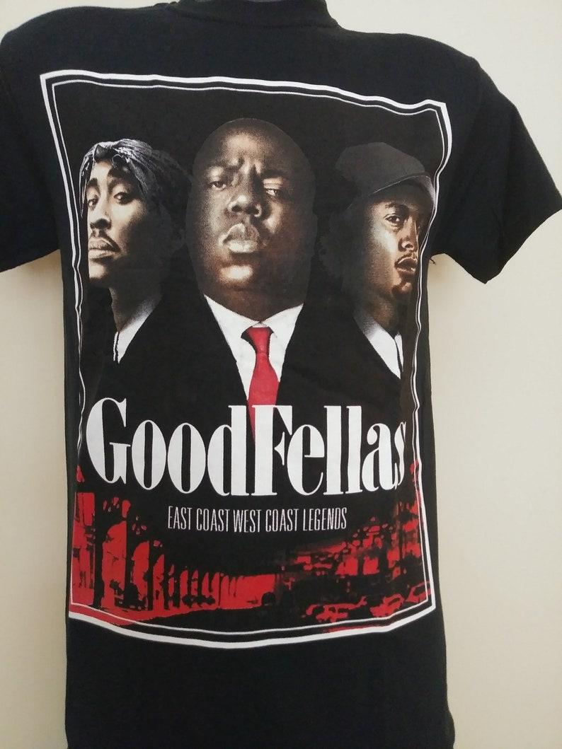 89ece3cab3ad Tupac And Biggie T-shirt. GOOD FELLAS Black Tee. Hip Hop | Etsy