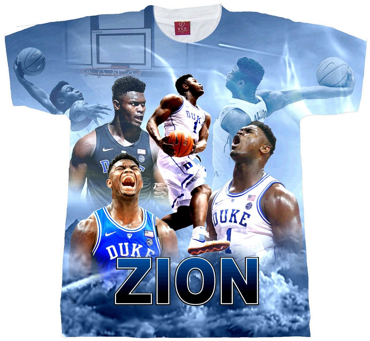 brand new 8d434 a9124 ZION T-shirt. Adult And Youth Sizes. Zion Williamson Shirt. Duke T-shirt.  Zion T-Shirt. Duke Team Shirt