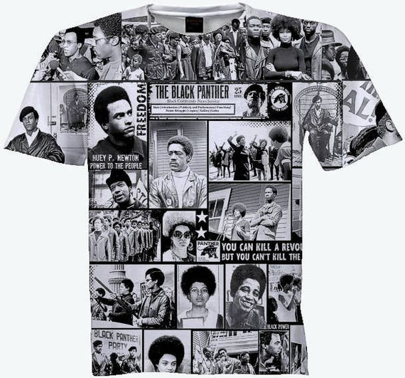 4ad6f51458b6a Black Panther CollageT Shirt . Unisex Sublimation Shirt.