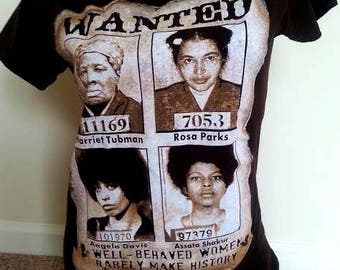 Well Behaved Women Ladies Junior T-shirts. Black History t-shirts