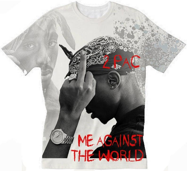 984131ab139da Tupac T-Shirt. Me Against The World. Black Panther Party