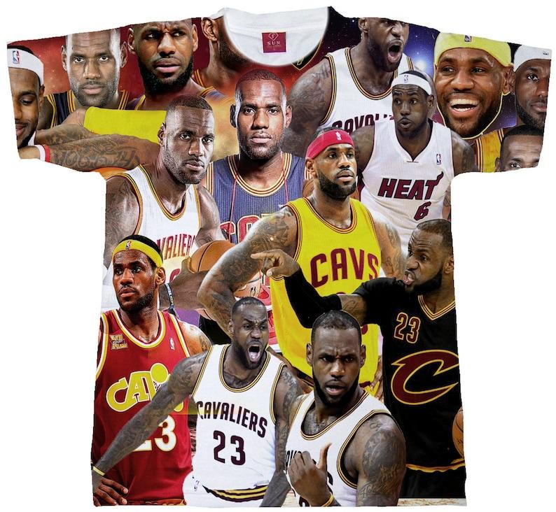 d7e094205 Lebron James T-shirts Collage.. Unisex Sublimation Shirt