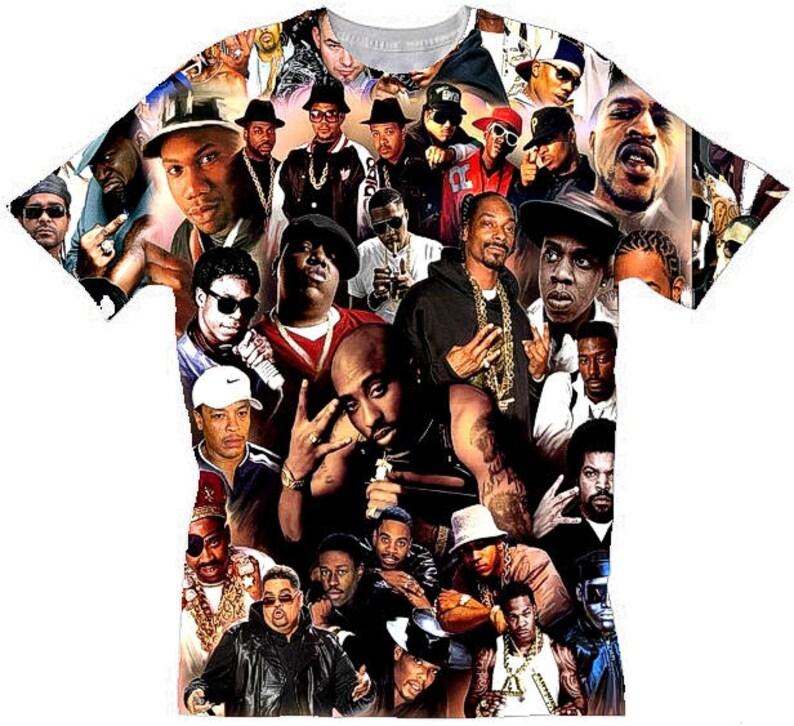 da3e4e393957 Hip Hop Legends T shirts Mens Unisex . African American.Hip