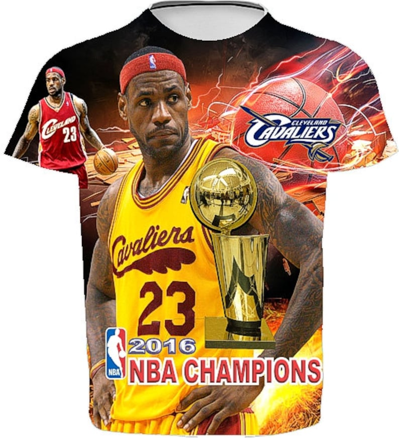 1587fe142f0f Lebron James T shirt. 2016 Champion MVP. Men's Unisex | Etsy