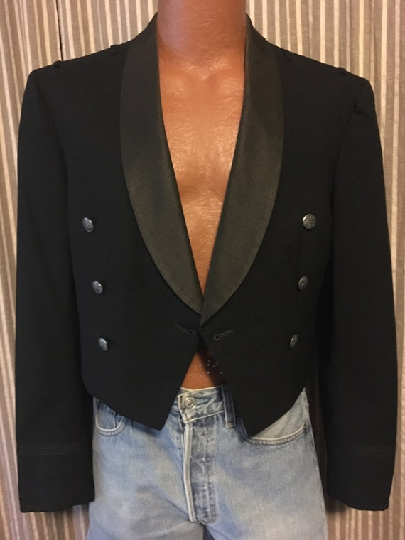 Men's black vintage tuxedo jacket